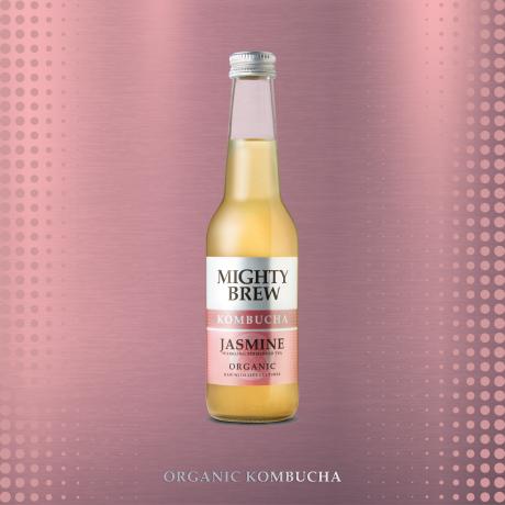 Organic Jasmine on the pink background