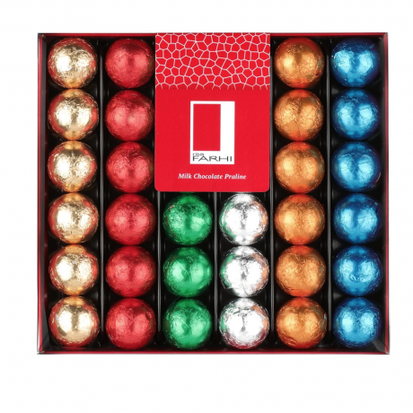 Foiled Hazelnut Pralines Gift Box