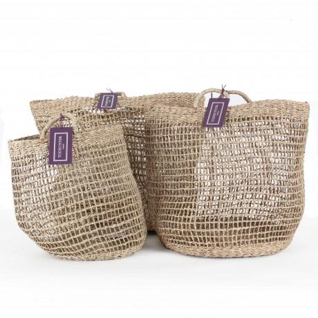 The Sherborne Seagrass Baskets Trio