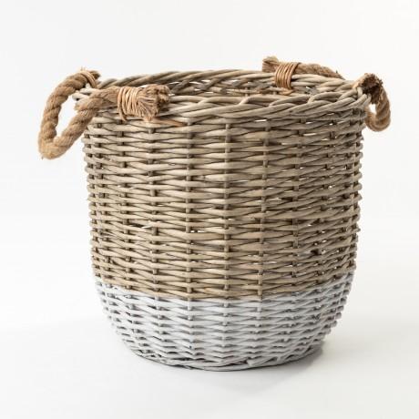 The St Ives Dip Dyed Basket Medium