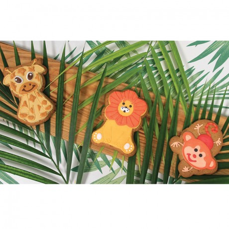 Assorted Jungle Gingerbread Party Pack (Pack of 10)