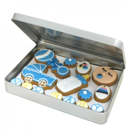Baby Boy Biscuit Gift Tin