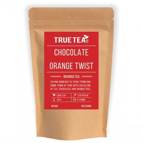 Chocolate Orange Rooibos Tea (No.606) - Loose Leaf Redbush Tea - True Tea Co.