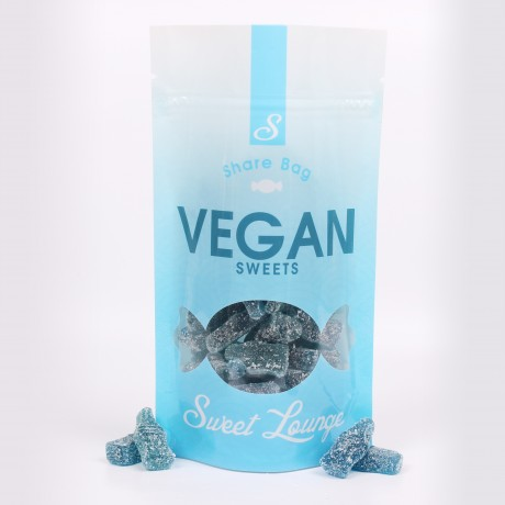Vegan Fizzy Blue Raspberry Bottles - 300g Share Bag