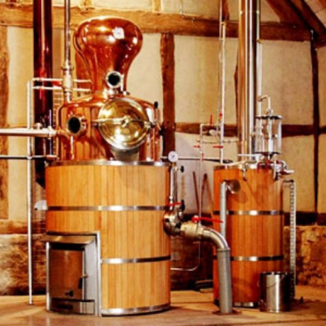 Copper pot still