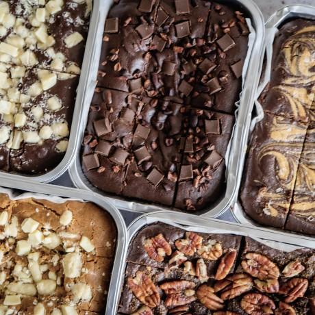 Salted Date Caramel Brownies | Vegan, Gluten & Refined Sugar Free