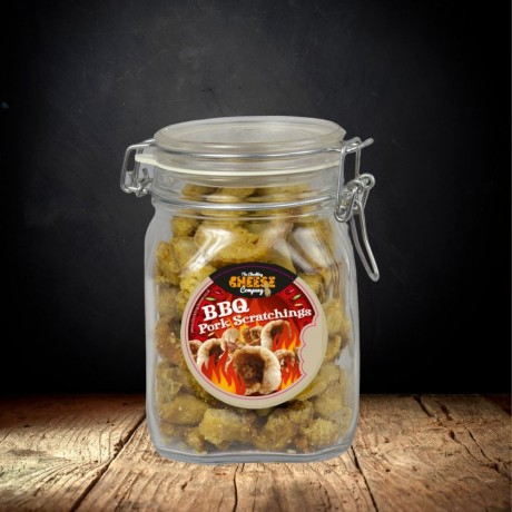 BBQ Pork Scratchings Gift Jar