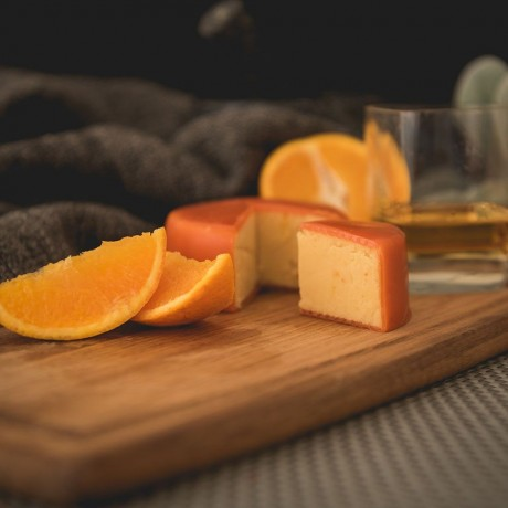 Orange and Whisky Cheddar Truckle