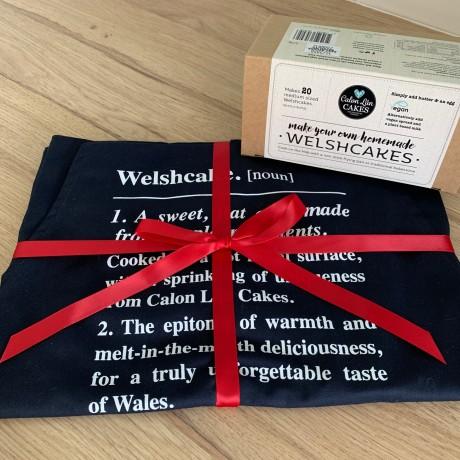 *Welshcake Kit Not Inclduded - Welshcake Navy Blue Apron