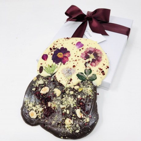 Floral Wild Berry Chocolate Slate Gift Box