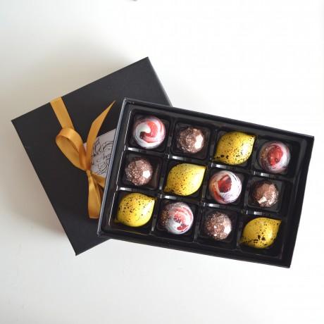 Handmade and Hand Decorated Vegan Dark Chocolate Gift Box