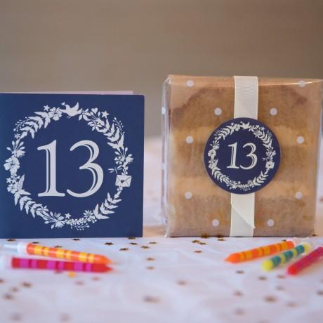 Teen Birthday Cake Card