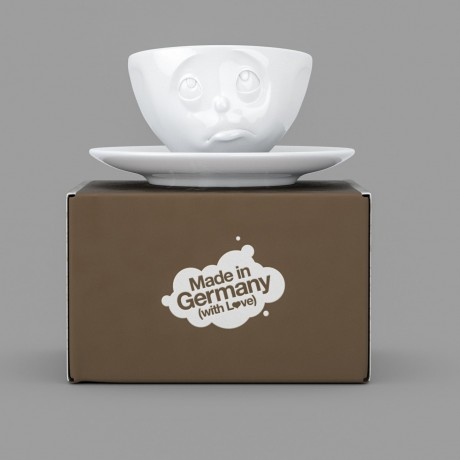 Oh Please Espresso Cup and Saucer with gift box
