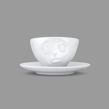 Espresso Cup, Oh Please design, with saucer