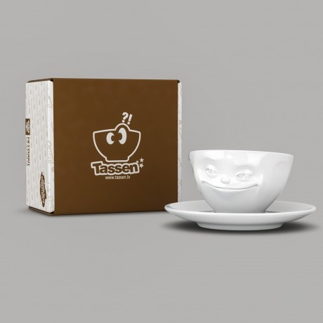 Grinning Espresso Cup and Saucer with gift box
