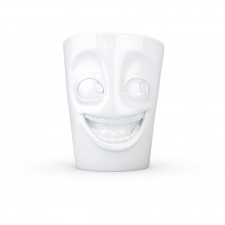 Quirky White Porcelain Mug 'Joker' design