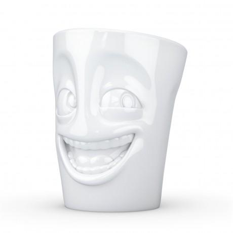 White 'Joker' Coffee Mug side view
