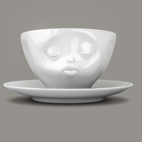 Espresso Cup, Kissing design, with saucer