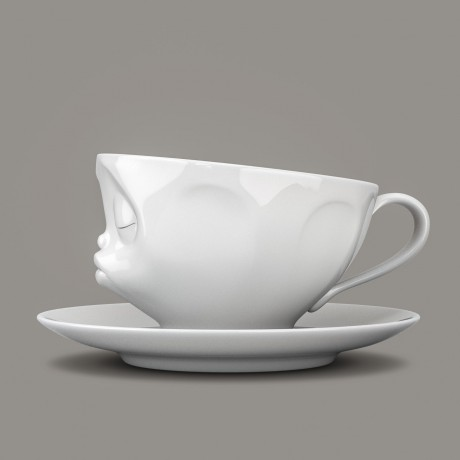 Kissing Espresso Cup and Saucer side view