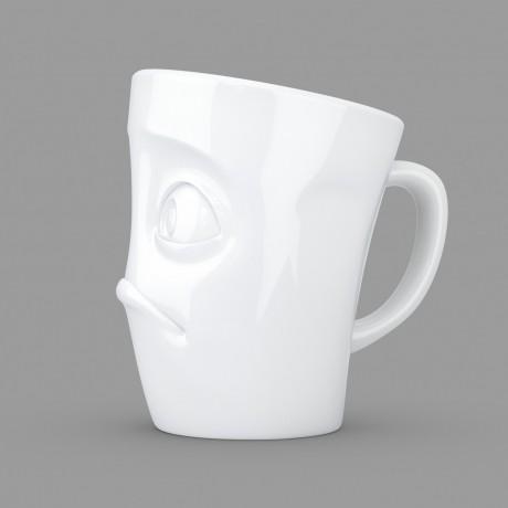 White 'Baffled' Coffee Mug side view