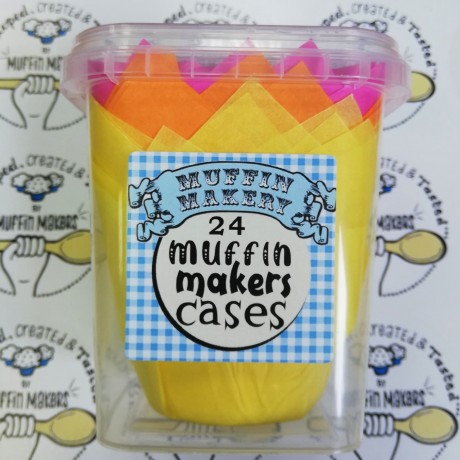 Professional Muffin Makery Muffin Makers Cases in bright colours x 24