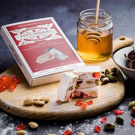 Soft Nougat With Rose Italian Cherries