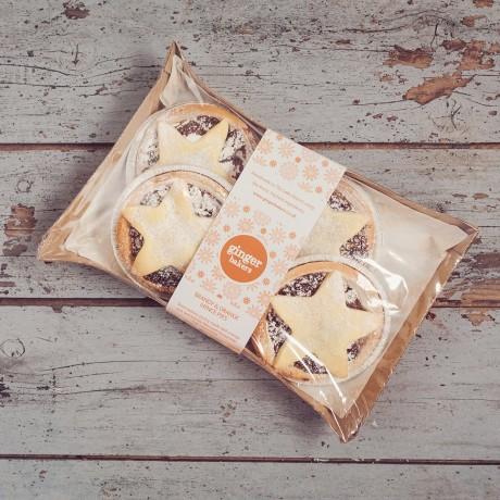 Handmade Luxury Brandy & Orange Mince Pies (Box of 4)