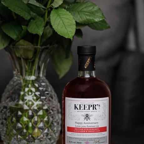 Personalised British Strawberry, Lavender & Honey Gin