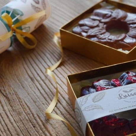 **Great Taste Award-Winning 2020 Christmas Chocolate Wreath Vegan Gift