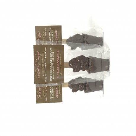 Set of 3 Dairy Free Santa Hot Chocolate Stirrers