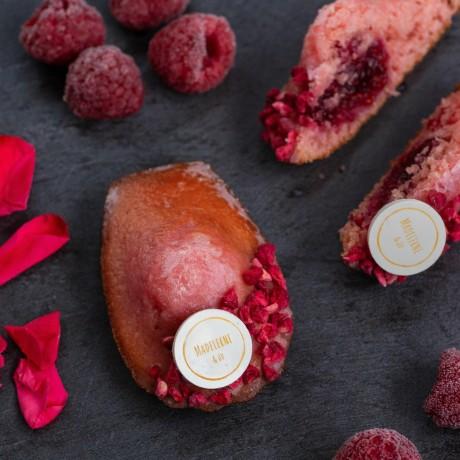 rose raspberry madeleines