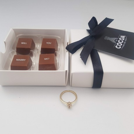 Will You Marry Me? Chocolate Message Box