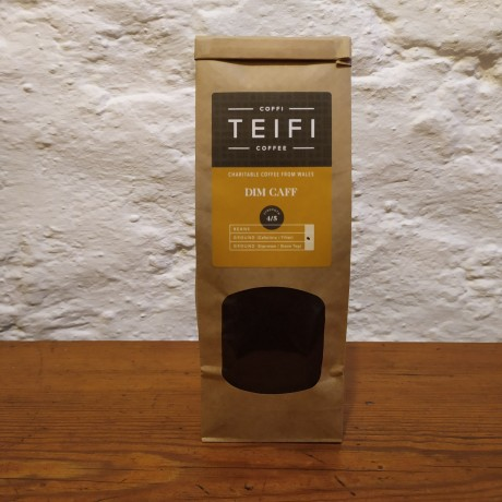 Teifi Dim Caff - Decaffeinated Ground Coffee - 4 x 227g packs