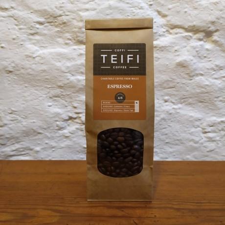 Teifi Espresso - Coffee Beans - 4 x 227g packs