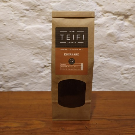 Teifi Espresso - Ground Coffee 4 x 227g packs