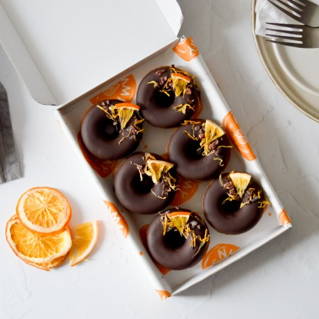 Chocolate Orange Baked Donuts | Vegan & Refined Sugar Free (Box of 6)