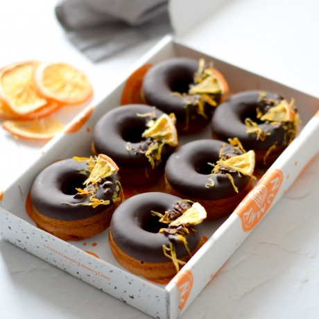 Chocolate Orange Baked Donuts   Vegan & Refined Sugar Free (Box of 6)