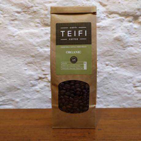Teifi Organic - Coffee Beans - 4 x 227g packs