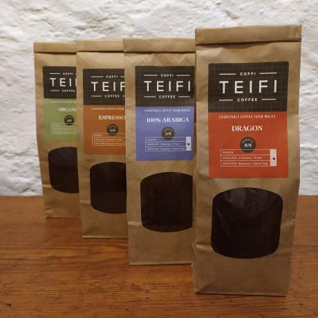 Teifi Coffee - Selection Pack - Ground Coffee - 4 x 227g packs