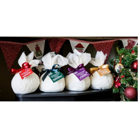 Wrapped Christmas Puddings